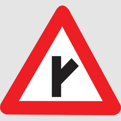 Cautionary Road Signs | Department of Police, State ... Y Intersection Sign