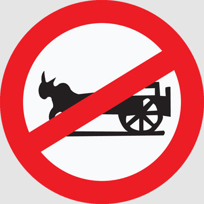 BULLOCK CART PROHIBITED