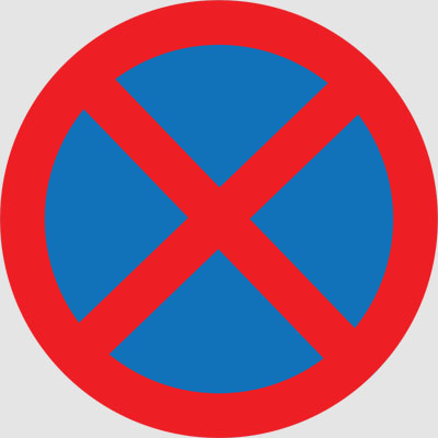 NO STOPPING OR STANDING