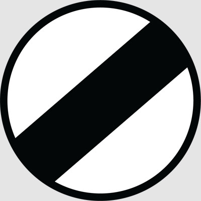RESTRICTION ENDS SIGN